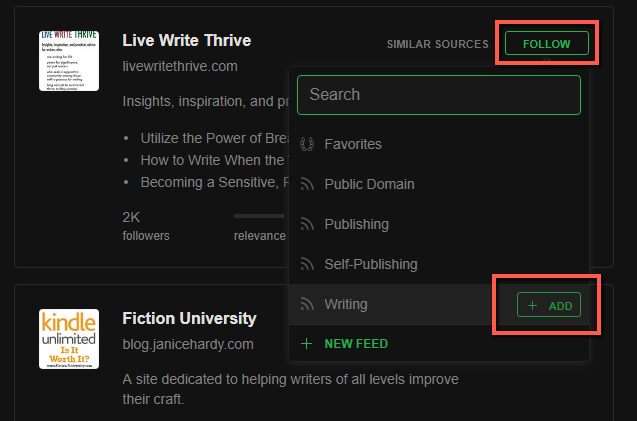 using feedly