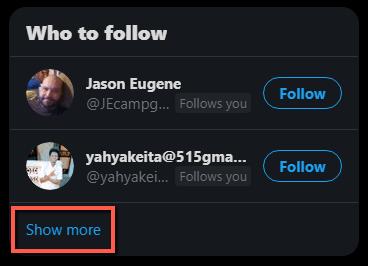 who to follow